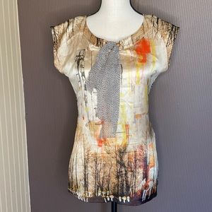 Marc Cain blouse size 3 silk and elastane
